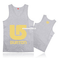 Wholesale 2014 new burton tank tops for men sports hip hop mens vests sleeveless o neck casual cotton undershirt cloth for gym muscle
