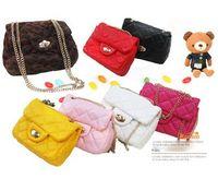 Wholesale EMS Korean Children Girls Candy Messenger Handbags Kids Cute Metal Shoulder Bags Plain Leopard Fashion Princess Bags B3127