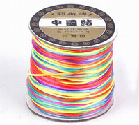 Wholesale 70M Roll New Nylon Cord Satin Chinese Knotting String Colorful For Shambhala Loose Beads Bracelet DIY Wire NF3