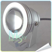 Wholesale DHL DC V RGB LED Spot lights W underwater lamp bulb Lamp Spotlight with K IR controller
