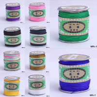 bead rolls - 135M Roll Nylon Cord Satin Chinese Knotting String For Shambhala Braided Loose Beads Bracelet DIY Wire Colors Choose NF5