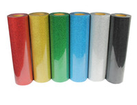 t-shirt heat transfer - 6 pieces cm cm T shirt heat press film PET Glitter Heat Transfer Vinyl by Cutter Press