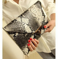 Wholesale BUENO hot new fashion serpentine clutch bags vintage women handbag evening bag