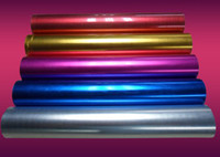 Wholesale 5 pieces colors cm cm of Clothing PET Metal light Heat Transfer Vinyl high quality heat transfer film by Cutter Press