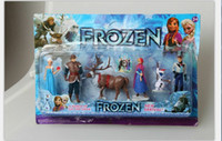 Multicolor PVC Figure Retail Frozen 6-Piece PVC action Figure Play Set [Anna, Elsa, Hans, Kristoff, Sven & Olaf] kid's gift toy