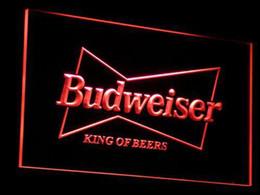 a009-r Budweiser Rey Beer Bar Pub Club de la luz de neón