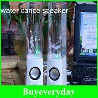 2.1 Universal Computer Freeshipping new Water Dance Speaker Fountain Active Portable Mini USB LED Light Speaker For iphone ipad PC MP3 MP4 PSP Soundbox Boombox
