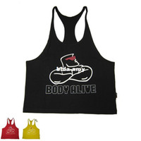 fitness wear training wear - E0464 Men s Professional Gym Vest Bodybuilding Workout Wear Fitness Top Tank Lycra Cotton High Quality Training Suit