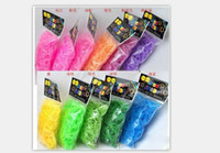 Unisex 8-11 Years Multicolor Hot-SaleWholesale colorful Jelly Transparent Rainbow loom Bands 600pcs + 24 CLIPS rubber bands For DIY bracelet Accesorries