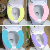 Cheap Novelty Items Bathroom Toilet Seat Hygienic Comfortable Adhesive Mat Pads 5Pcs lot Free Shipping