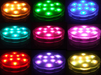 Wholesale 100pcs remote control flower shaped submersible LED effiel vase base lights