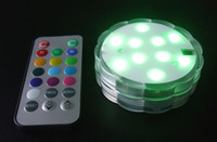 battery lights centerpieces - remote control AAA battery operated LED centerpiece base light floralytes colour changing