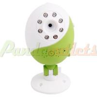 Wholesale Wireless Wi Fi Plug in TF Card P2P IP Camera Remote Access Green amp White