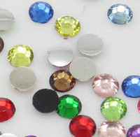 Wholesale New Diy mm Facets Resin Rhinestone Gems Silver Flat Back Crystal Loose Diamonds Beads Colors