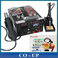 Wholesale High Quality Genuine saike D hot air gun rework station with Soldering station power in1 V or V W Send Free gifts
