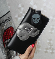 Clutch Bags Women Cartoon New 2014 High Quality Fashion Trend Famous Designer Women Skull Rivet Handbag Women Wallet Clutches Totes Evening bags handbag for women