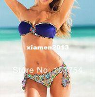 Wholesale Drop ship discount bikini colorful bathing suits swimming suit women floral swimwear