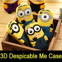 Wholesale 3D Despicable Me Cartoon Soft Silicone Gel Rubber Case Cover Cute Smile Big Eye More Minions Skin for quot iphone G G S S G C