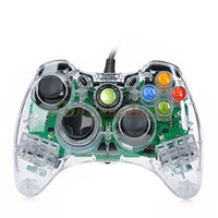 Wholesale USB Wired Double Shock Game Controller JoyStick for Xbox360 Xbox360 Slim Transparent cm Cable sku