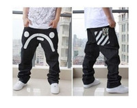 Wholesale 023 hot sell New fashion Punk Rock Hip hop skateboard loose big size long jeans