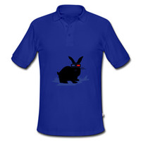 Wholesale Plus Size Black Rabbit With Red Eyes Printed Men Ouwear Skin friendly Close fitting Male New Tees Shirt