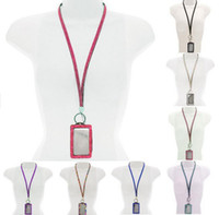 Lanyard bling lanyards - New Arrive Bling Lanyard Crystal Rhinestone in Neck With Claw Clasp ID Badge Holder with job card