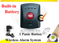 Wholesale SMS Alarm Wireless Security Personal Alarm System with Waterproof Panic Button and Built in Battery