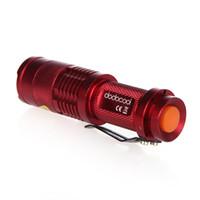 5 colori Flash Light 300LM Q5 LED di campeggio della torcia elettrica della torcia dello zoom del fuoco torce elettriche impermeabili lampada H4846