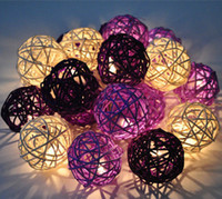 Beads christmas items - LED luminaria el wire rattan round ball strings novelty items Christmas Xmas home Wedding Garland decoration lamps Lights amp Lighting