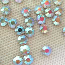 Wholesale DMC ss MM Flat Back Hotfix Crystal AB Rhinestone Finely Processed Hot Fix Loose Stones Limit Preferential SS20