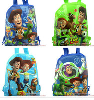 bag stories - 120 Toy Story Kid drawstring backpack bags school bag cartoon bag party gifts