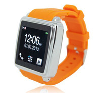 Wholesale Galaxy Gear Touch screen smart bluetooth Wrist Watch phone MQ588L Sync Iphone Android Phone avoid loss phone anti lost smart phone