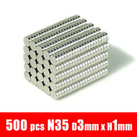 Permanent magnets - 500pcs mm x mm disc powerful magnet craft magnet neodymium rare earth neodymium permanent strong magnet n50 n52 holds g
