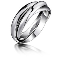 New Korean Style Ring 316L Stainless Trinity Ring Silver Gen...