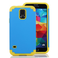 Wholesale Hybrid Slim Hard PC Back Cover TPU Rubber Case For Samsung Galaxy S5 I9600 S4 Note Active I9295 HTC m7 Cell phone bags