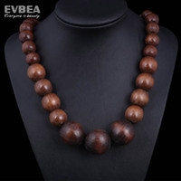 Pendant Necklaces jewelry china - Men Jewelry Wooden Beads Necklace Evbea wood beads necklace fashion jewelry long wood necklace