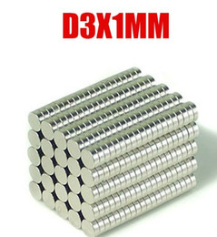 Wholesale 300Pcs mm x mm Disc Rare Earth Neodymium Strong Magnets N35 Craft Models D3X1MM D3 MM