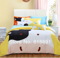 Children Twill 100% Cotton CP120179 Branded Hot Sell Pigment Printing Diagonal Home Textile High Density 100% Cotton Bedding Set 4Pcs