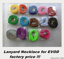 Wholesale Lanyard Necklace String Neck Chain Sling Clip Ring for Eovd battery evod MT3 Electronic Cigarette Various Colors DHL ship