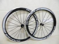 Wholesale 50mm carbon alloy wheels clincher c road bicycle wheels C Carbon bike wheelset