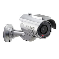 Wholesale Newest Waterproof Solar Powered Fake Dummy Security Camera with LED Light Indoor Outdoor