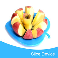 Wholesale 100 New Arrivals Stainless Steel Apple Slice Cutter Tools Convenient Fruit Knife Freeshipping