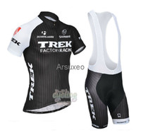 Short Anti Bacterial Men Wholesale - 2014 trek Pro Cycling Jersey + Bib Shorts Cycling Kit Castelli Team Cycle Clothing Sets