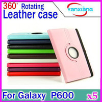 10.1'' P600 folio leather cover - DHL Rotating Degree Folio Stand Leather Case Cover for Samsung Galaxy Note Edition P600 P601 YX SG