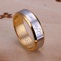 Wholesale 18K golden Couple Rings forever lover lovers ring S119