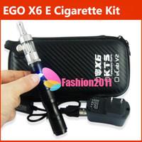 Electronic Cigarette Set Series  eGo X6 E cigarette with 1300mAh Battery Protank2 Atomizer or VIVI NOVA Atomizer Clearomizer Lava Tube Vaporizer eGo kits DHL Free 002168