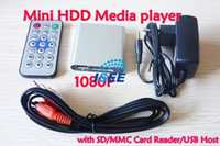 Wholesale MINI Full HD P USB External HDD Media player With SD MMC card reader support MKV H RMVB DVD MPEG