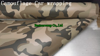 Carbon Fiber Vinyl Film vinyl for car wrapping - Desert Camouflage camo Graphic Vinyl For car wrapping with bubble free Size x30m Roll Thickness mm Fedex