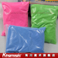 Cloth magic sand - Mysterious magic sand desert sand and sediment in water of g Bulk send tea color magic props