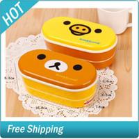 Wholesale Lovely Rilakkuma Little Yellow Chicken Heat Preservation Bento Lunch Box